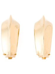 Yves Saint Laurent Vintage Classic Clip On Earrings Metallic