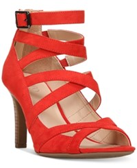 Franco Sarto Quincey Strappy Dress Sandals Women's Shoes Red
