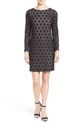 Women's Vince Camuto Dot Mesh Lace Shift Dress
