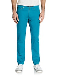 Marc By Marc Jacobs Five Pocket Straight Leg Jeans Deep Teal