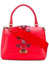 Anya Hindmarch Apex Small Bathurst Tote Women Leather One Size Red