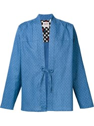 Naked And Famous Naked And Famous Tie Knot Shirt Blue