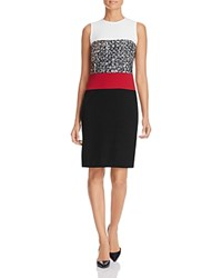Paule Ka Color Block Sheath Dress Noir