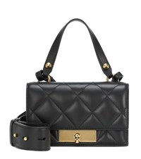 Alexander Mcqueen Quilted Leather Tote Black