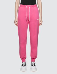Msgm Small Logo Sweatpants Pink