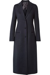 Joseph Archi Brushed Wool And Silk Blend Coat Navy
