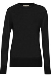 Jason Wu Lace Trimmed Wool And Silk Blend Sweater Black