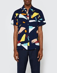 Native Youth Organic Displacement Shirt Navy