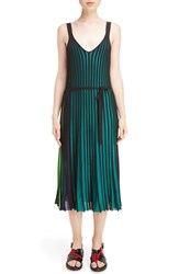 Kenzo Women's Colorblock Knit Pleat Dress