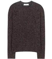 Valentino Wool Blend Knitted Sweater Black