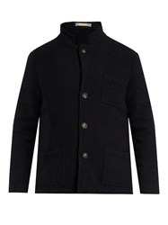 Massimo Alba Notch Lapel Wool Blazer Navy