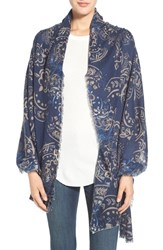Women's Hinge Americana Floral Scarf Blue Navy Combo