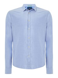 Scotch And Soda Men's Two Tone Twill Shirt Denim