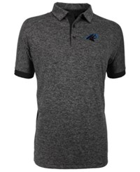 Antigua Carolina Panthers Talent Polo Heather Black
