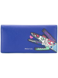 Paul Smith Ps By Ps By W2a5425acroca 41 Leather Fur Exotic Blue