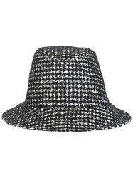 Dolce And Gabbana Houndstooth Pattered Hat Black