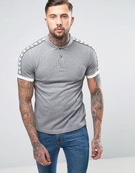 Fred Perry Sports Authentic Slim Fit Polo Shirt In Grey Marl Steel Marl