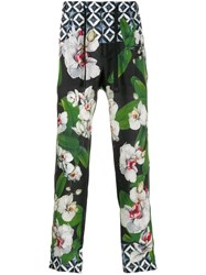 Dolce And Gabbana Mix Prints Trousers Blue
