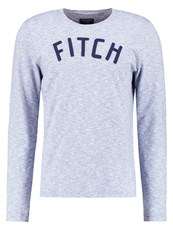 Abercrombie And Fitch Long Sleeved Top Blue White Light Blue