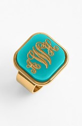 Women's Moon And Lola 'Vineyard' Personalized Monogram Ring Robins Egg