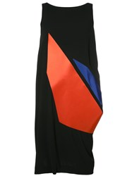 Issey Miyake Sleeveless Graphic Print Dress Black