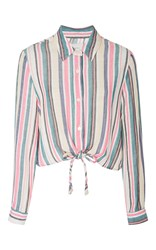 Solid And Striped Taylor Crop Shirt Stripe