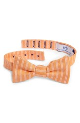 Southern Tide Atlantic Horizontal Cotton And Silk Bow Tie Orange