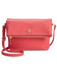 Giani Bernini Pebble Leather Mini Crossbody Only At Macy's Deep Sea Coral