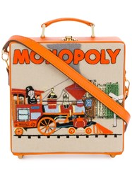 Olympia Le Tan 'Monopoly Train' Clutch Bag Yellow And Orange