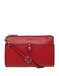 Lodis Audrey Vicky Convertible Crossbody Clutch Red