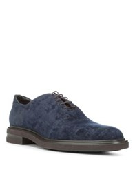 Donald J Pliner Almond Toe Oxfords Navy