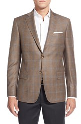 John W. Nordstrom Classic Fit Check Wool Sport Coat Brown
