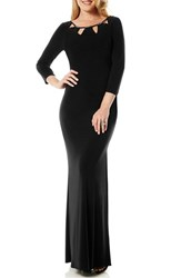Women's Laundry By Shelli Segal Cutout Matte Jersey Gown Black