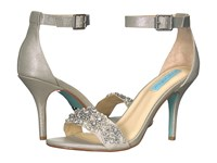Blue By Betsey Johnson Gina Silver 1 2 Inch Heel Shoes