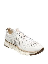 Cole Haan Zerogrand Laser Cut Leather Sneakers White