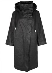 Crea Concept Black Waxed Linen Jacket