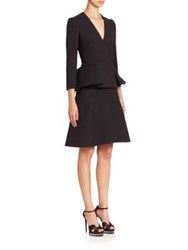 Alexander Mcqueen Wool Coat Dress Black
