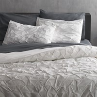 Cb2 Melyssa White Full Queen Duvet Cover