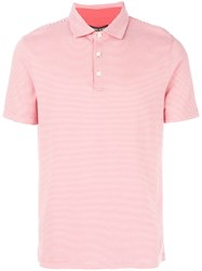 Michael Kors Collection Striped Polo Shirt Red