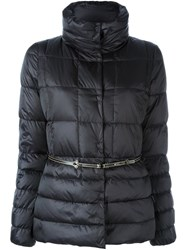 Fay Belted Puffer Jacket Black