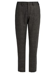 N 21 Prince Of Wales Checked Wool Blend Trousers Grey Multi