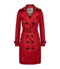 Burberry London The Sandringham Long Cashmere Trench Coat Female Red