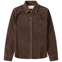 Our Legacy Suede Zip Shirt Brown