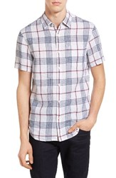 Original Penguin Men's Extra Trim Fit Plaid Woven Shirt
