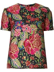 Manish Arora Short Sleeved Floral Top Multicolour