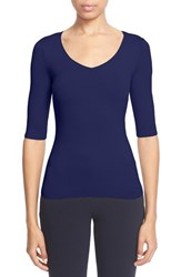Women's Armani Collezioni Elbow Sleeve Stretch Jersey Tee