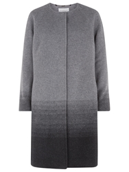 Windsmoor Ombre Collarless Coat Silver Grey