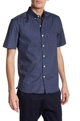 Kennington Polka Dot Short Sleeve Woven Shirt Blue