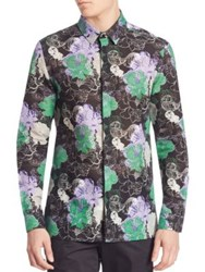Versace Camicia Trend Floral Shirt Black