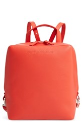 Calvin Klein 205W39nyc Cube Leather Backpack Red Campari